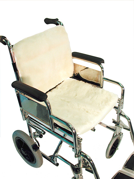 Wheelchair Seat & Back (Lambs Wool)